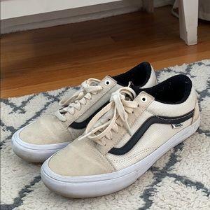 Vans Old Skool Pro Marshmallow and Black Sneakers
